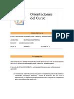 Orientaciones del curso  INVESTIGACION OPERATIVA