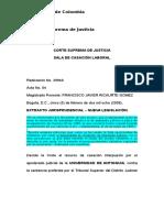 Radicación No. 29940 Corte superma de justicia