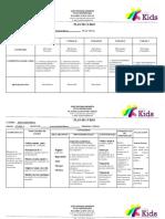 planificación pre primaria fisica