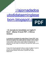 ➞A Jornada do Autodidata em Inglês Vale a Pena? 【Download E-book PDF + 8 Bônus Grátis!】
