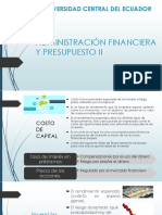 Administración Financiera Costo de Capital