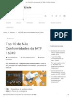 Top 10 de Não Conformidades da IATF 16949 - Portal da Qualidade