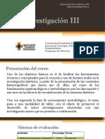 Presentación Investigación III - Proyecto UPB Innova
