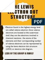 The lewis electron dot structure