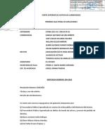 """Exp. 07484-2015-91 - Asociacion ilicita - Lavado de activos - Tenencia ilegal de armas - Caso """"La Roca"""" - Sentencia de vista"""