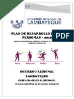 PLAN DE DESARROLLO DE LAS PERSONAS -  2019 .docx