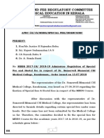 ORDER ISSUED TO THE PRINCIPAL OF THE SOMERVELL MEDICAL COLLEGE ,  DATED 13.07.2018