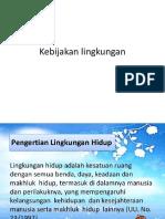 kebijakan lingkungan
