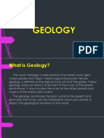 GEOLOGY BRANCHES