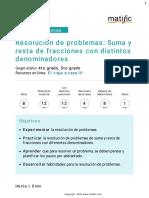 Resolución de problemas_ Suma y resta de fracciones con distintos denominadores