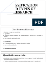 Lecture 2 Classification and Types of Research