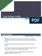Sub Urban India