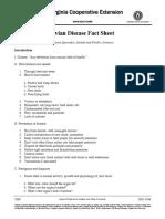 Avian Disease Fact Sheet