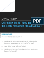 Cat Fight in the Pet Food Industry (a) Criterios y Data
