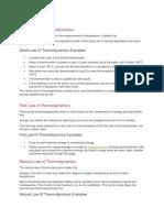 Zeroth Law of Thermodynamics summary