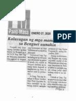 Mang-Masa, Jan. 27, 2020, Kalusugan ng mga mamamayan sa Benguet uunahin.pdf