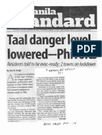 Manila Standard, Jan. 27, 2020, Taal danger level lowered - Phivolcs.pdf