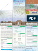 Short Courses ARABIC in ISLAMABAD Brochure 270818