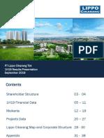LPCK_Investor Presentation 1H 2019_Sep 2019