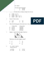 Mathematics Paper 1 Year 5