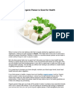 How Organic Paneer is Good for Health?