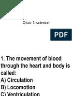 Quiz -science