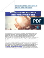 Ways to Grow Your Business With Video in 2020- Magic Mass and Media