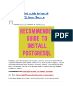 Recommended Guide to Install POSTGRESQL From Source