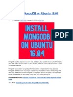 Install MongoDB on Ubuntu 16.04