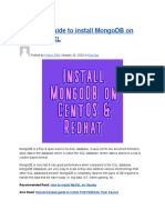 Complete Guide to Install MongoDB on CentOS_RHEL