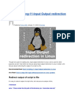 Bash Scripting-11-Input Output Redirection in Linux