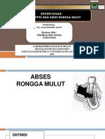 Review  Abses Rongga Mulut dan Periodontitis
