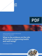 What is the evidence on the role of the arts in improving health and well-being? Summary (2019)