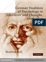 The german tradition of psychology in Literature and Thought 1700-1840