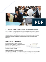 It's Time to Make the Machine Learn Your Business