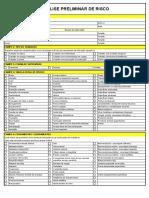 Modelo de APR - Análise Preliminar de Risco