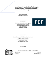 Demonstration of Pulsed X-ray Machine Radiography as an Alternative to Industry Radiography Cameras,- Draft Final Report DOE