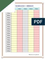 Daily Schedule Weekdays for 4 Children