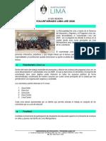 AM Información Voluntariado Lima Lee 2020