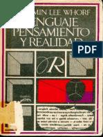 Whorf, Benjamin Lee - Lenguaje, pensamiento y realidad.pdf