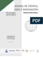 Plan Nacional de Cyt Nicaragua
