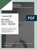 """Dossier """"Balance de la COP25 Chile-Madrid"""""""