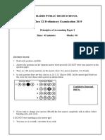 POA XI Prelim Paper (Paper I) 2019