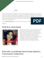 Comunicación Institucional _ Entrevista a la politóloga Idoia Arreaza 2