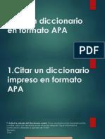 Citar un diccionario en formato APA