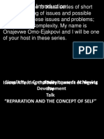 REPARATION AND THE CONCEPT OF SELF Presentation