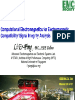 Computational Electromagnetics for Electromagnetic Compatibility/ Signal Integrity Analysis
