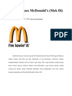 Kisah Sukses McDonald