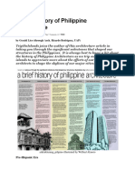 A Brief History of Philippine Architecture