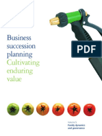 Business Succession Planning Cultivating Enduring Value Family Dynamics and Governance